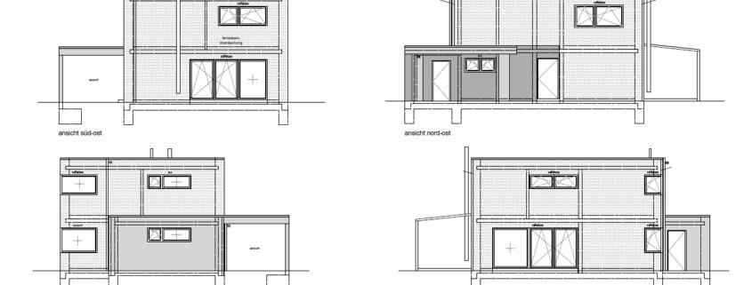 Neubau Einfamilienhaus Bauhausstil in Gescher