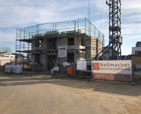 Neubau Einfamilienhaus in Borken Rohbau Fundament Erdarbeiten Naßmacher Bauunternehmung